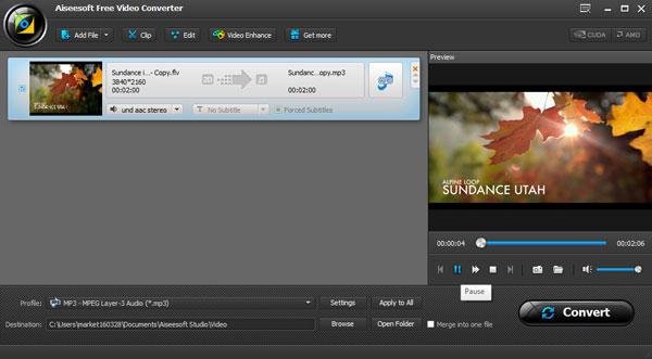 Converter FLV para MP3 com AiseeSoft Video Converter Ultimate