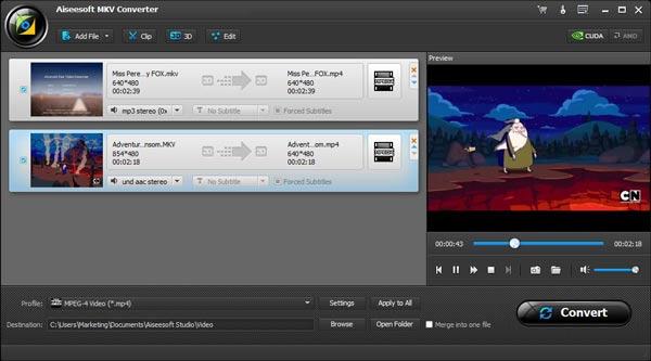 Converter vídeo MKV para AVI MPEG - Aiseesoft