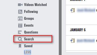 Limpar histórico Facebook navegador Passo 3