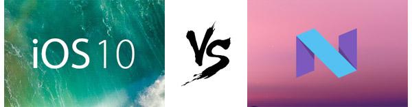 Comparação iOS 10 vs. Android N