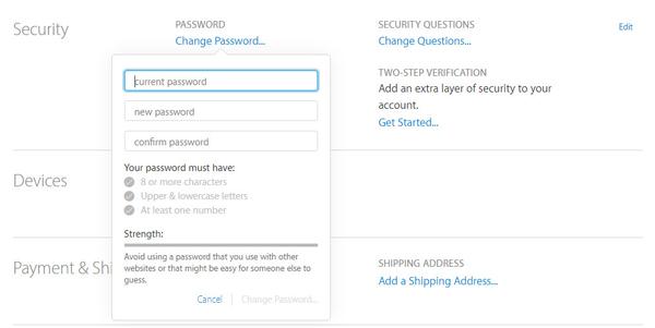 Mudar senha ID Apple passo 2