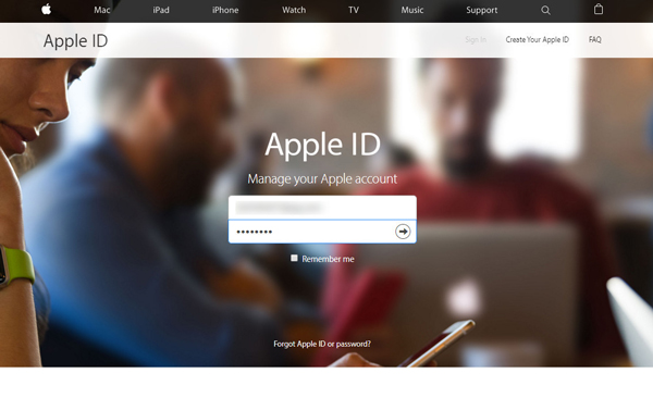 Mudar senha ID Apple