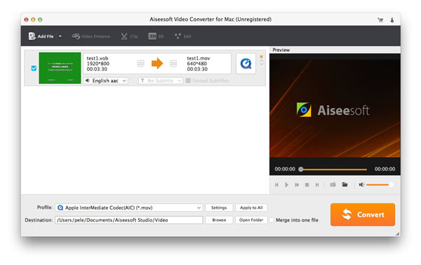 Paso 1 Convertir videos para Mac - AiseeSoft Video Converter Ultimate