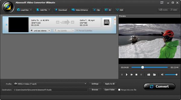 Passo 2 Converter vídeos MP4 AiseeSoft Video Converter Ultimate