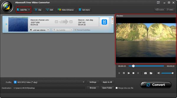Passo 2 Converter vídeos WMV para MP4 Kindle Fire