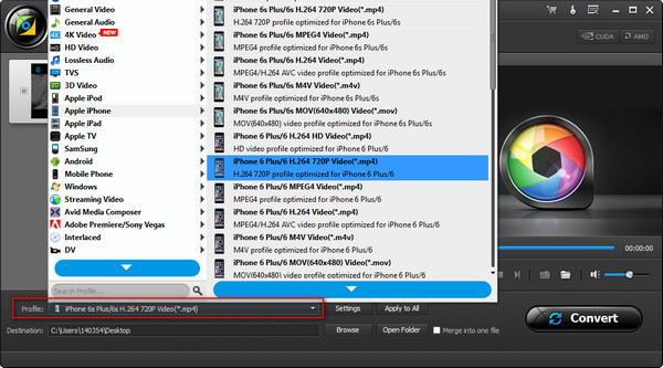 Passo 3 Converter vídeos MP4 AiseeSoft Video Converter Ultimate