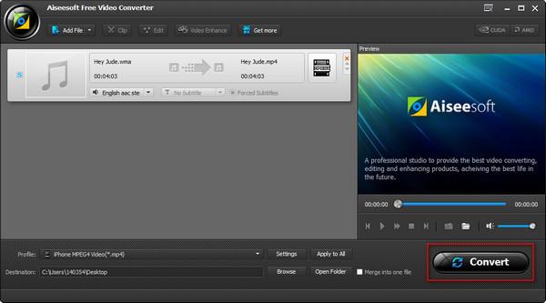 Passo 4 Converter áudio WMA para MP3