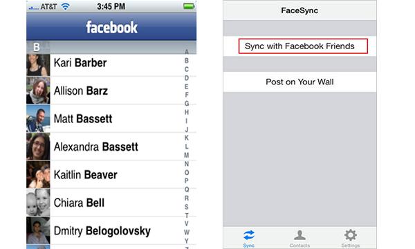 Programa sincronizar contatos iPhone FaceSync