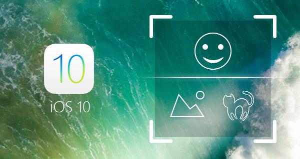 Novidades iOS 10 Reconhecimento face objeto local