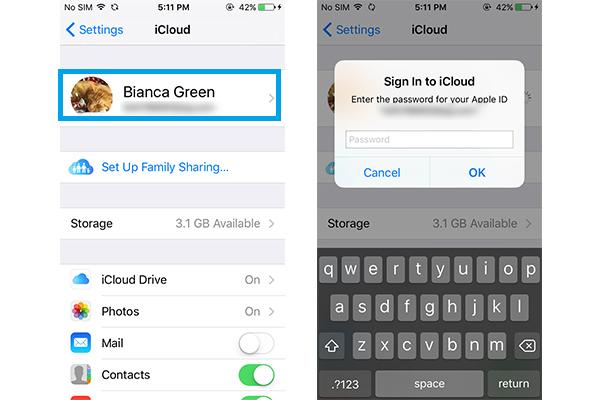 Mudar senha ID Apple no dispositivo