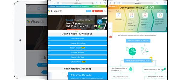 Tela dividida Safari iPad iOS 10