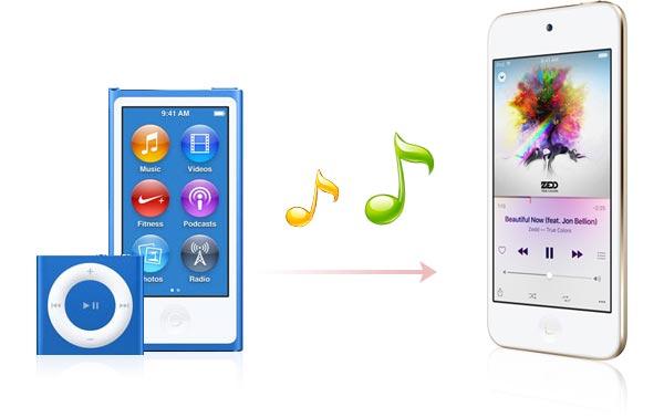 Transferir canciones de un iPod a otro