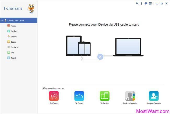 Transferir livros baixados PC para iOS