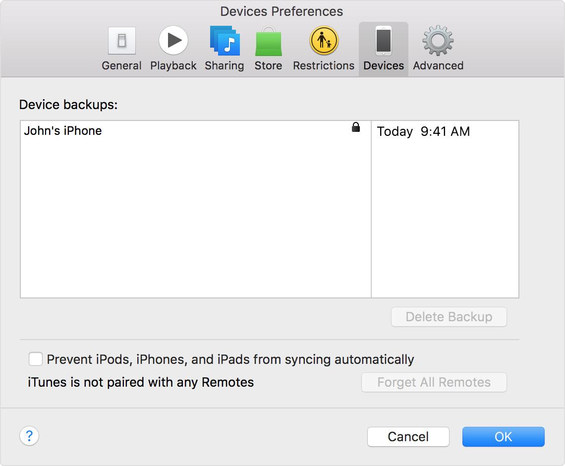 Backup iPhone iTunes passo 5
