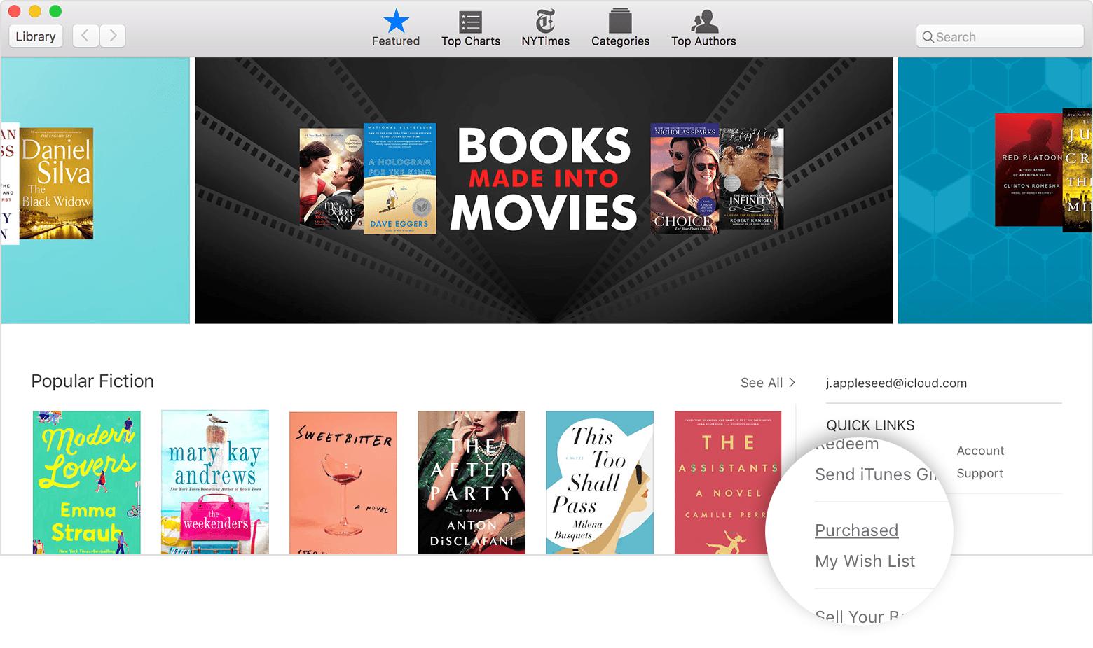 Baixar novamente livros Mac
