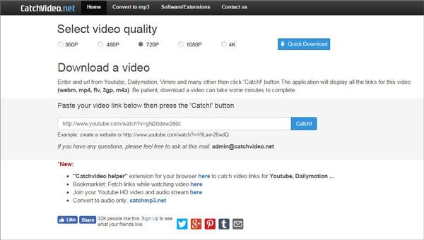 Capturar vídeos CatchVideo