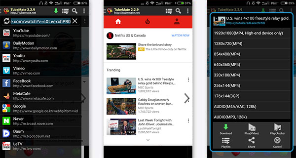 Descargar videos Android Tubemate