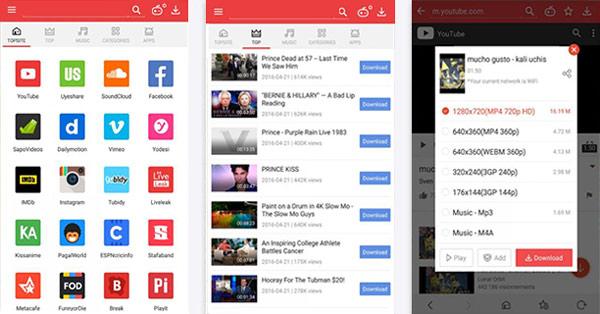 Descargar videos Android Vidmate