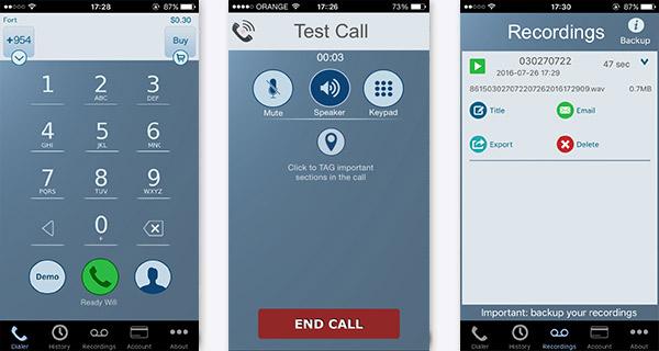 Grabar llamadas iPhone Call Recorder