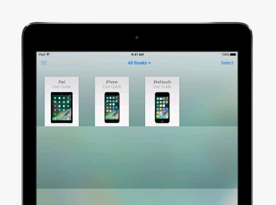 Acessar guia usuário iPad