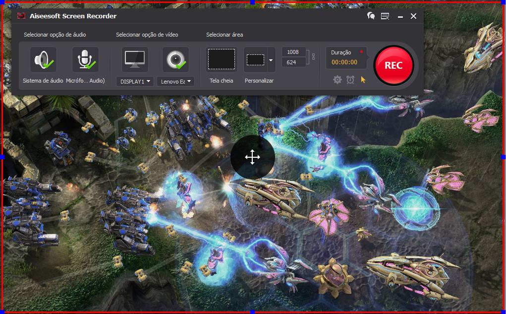 Abrir el StarCraft 2 y hacer clic en el botón REC para comenzar a grabar