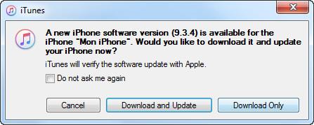 Actualizar iPhone iTunes