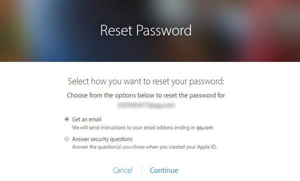 Olvidó contraseña ID Apple sitio paso 2
