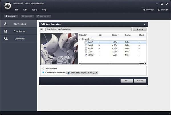 Passo 3 converter vídeo VCU