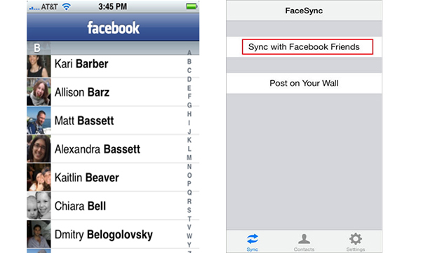 Programa sincronizar contactos iPhone FaceSync
