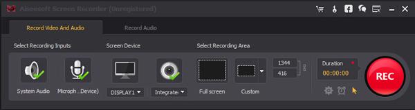 Grabar llamadas Windows Screen Recorder paso 2