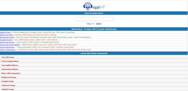 Sitios descargar canciones MP3Skull
