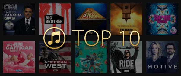 Top 10 filmes alugado iTunes