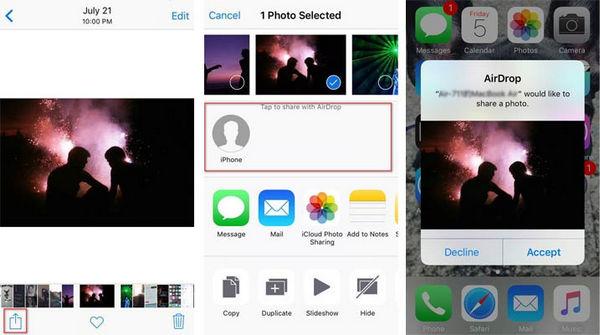 Usar AirDrop iPhone transferir archivos