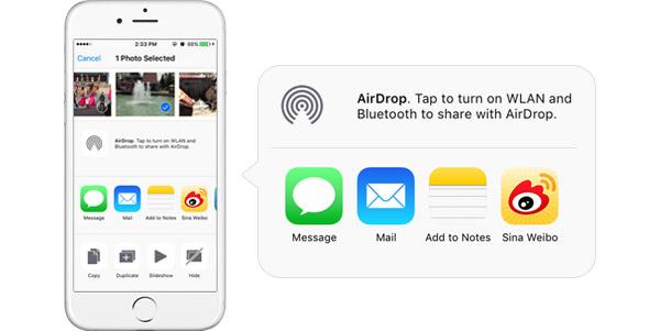 Usar AirDrop transferir arquivos Apple
