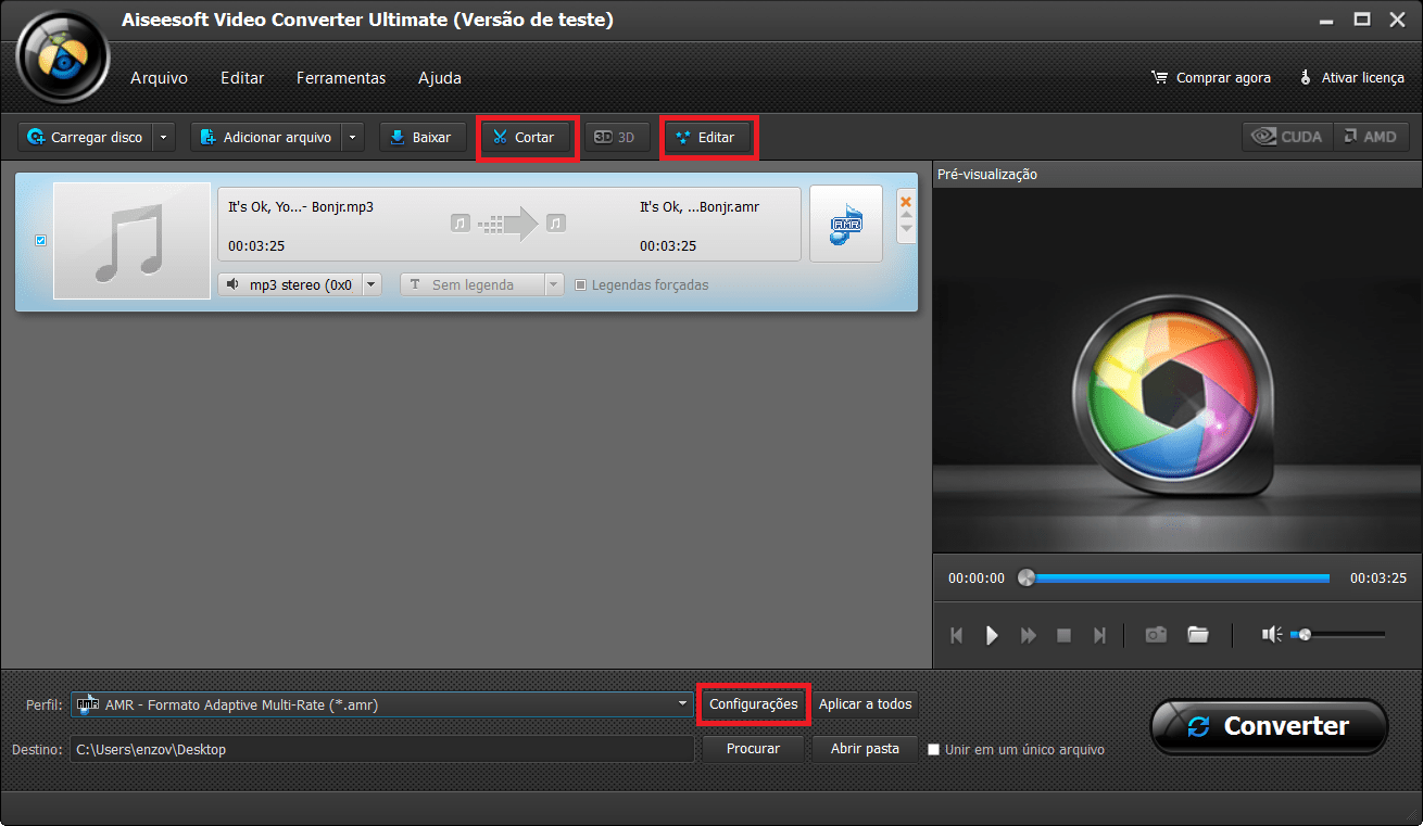 Edite su archivo como desea antes de convertirlo
