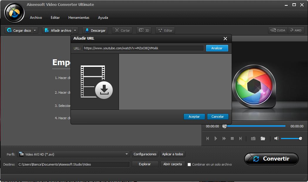Carpeta de videos - botón blanco de la aplicación — Vector de kreizihorse