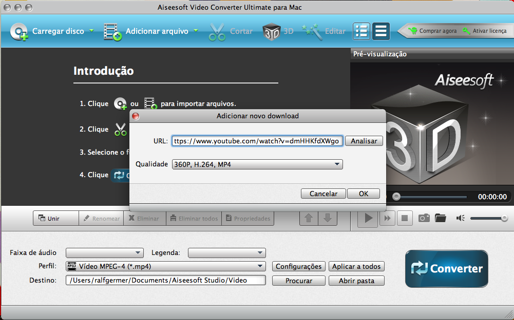 Adicionar novo download