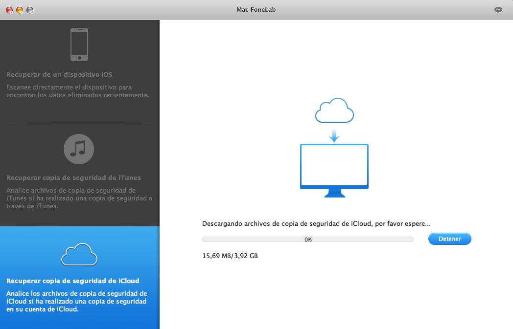 Recuperar de copia de seguridad de iCloud