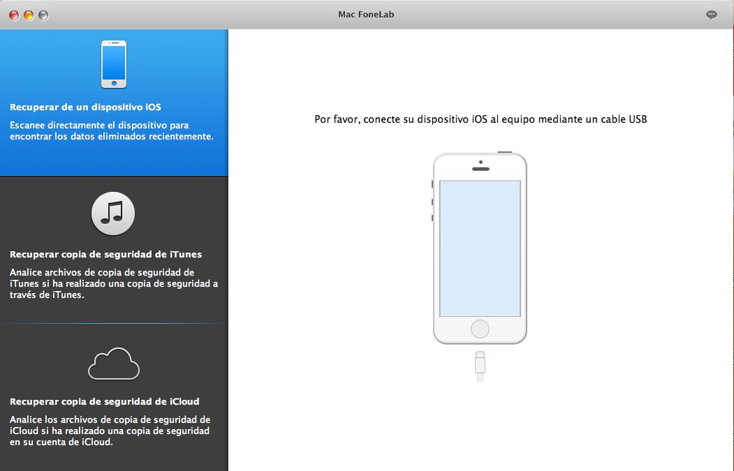 Restaurar datos perdidos de iPhone