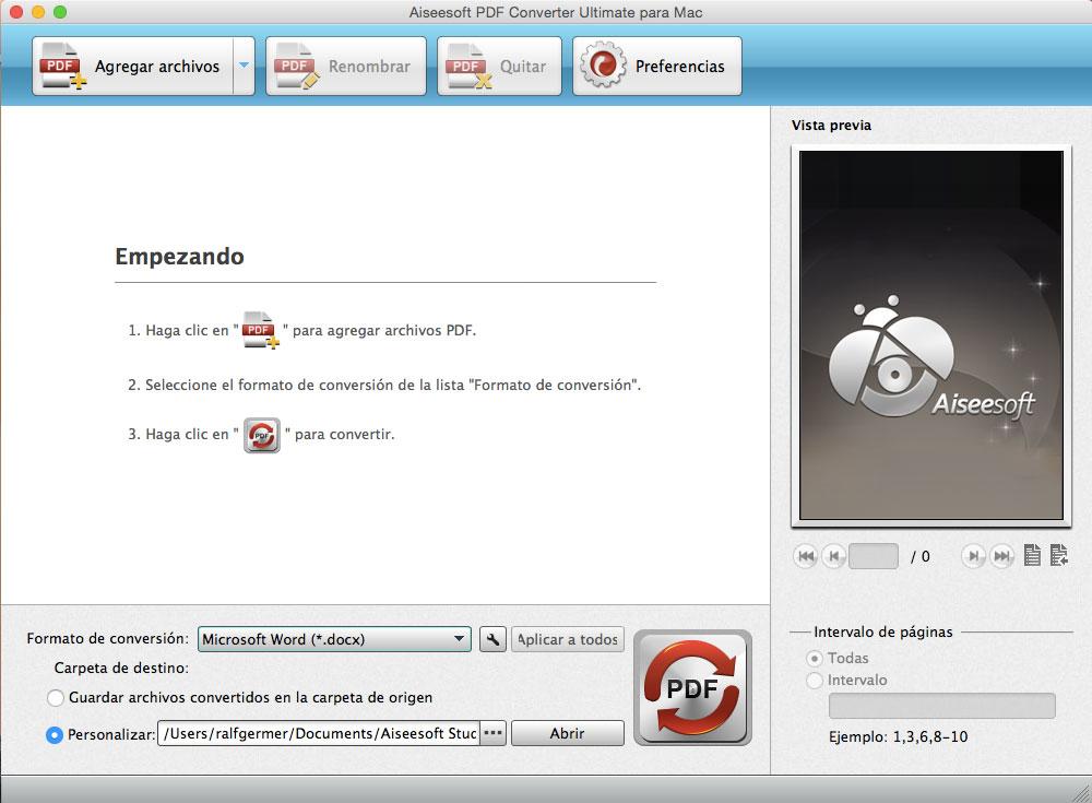 Convertir PDF en Mac