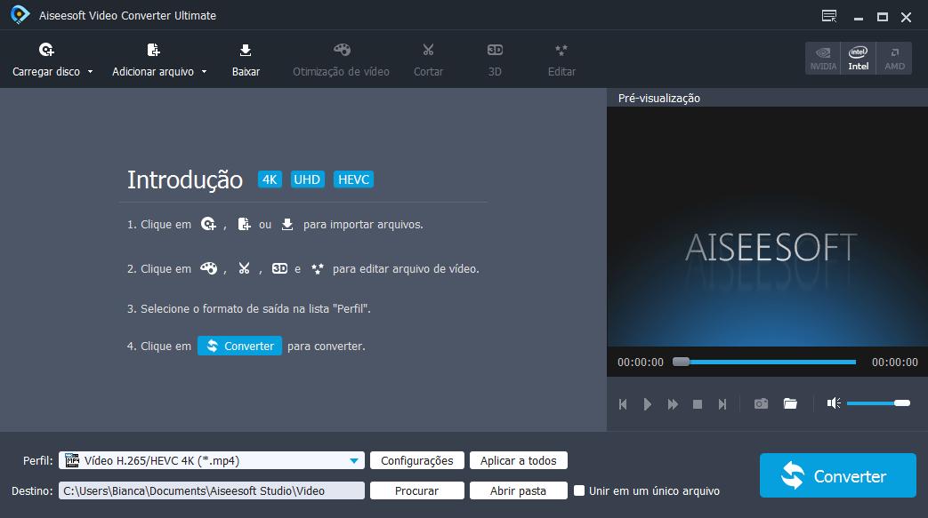 Abra o Aiseesoft Video Converter Ultimate em seu computador