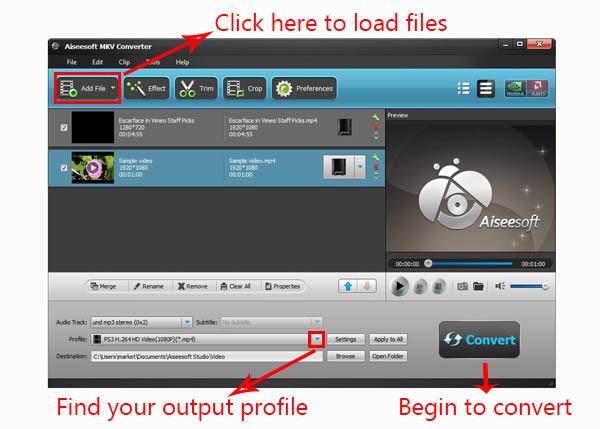 Seguir los pasos para convertir sus archivos con facilidad