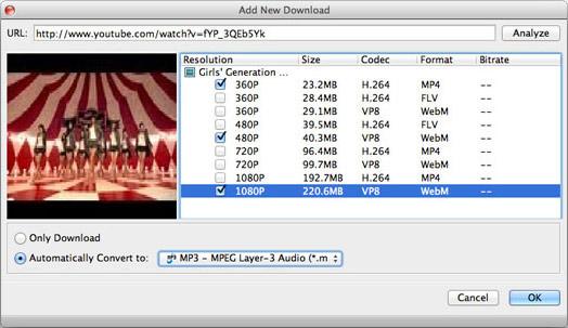 Seleccionar el formato MP3 para la conversión