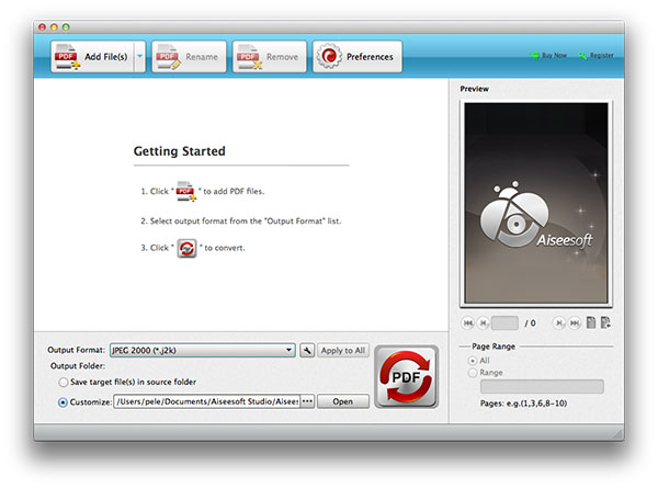 Abrir el Aiseesoft en su Mac