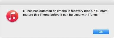 iTunes para arreglar iPhone bloqueado en modo de recuperación