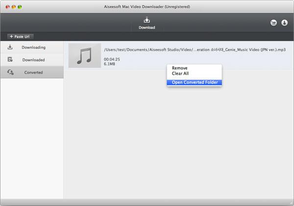 Encontrar sus archivos convertidos en MP3