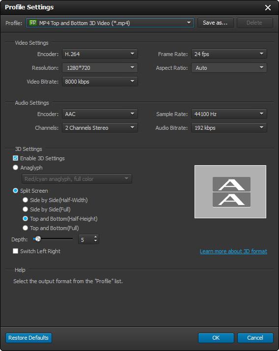 Editar las configuraciones de su video