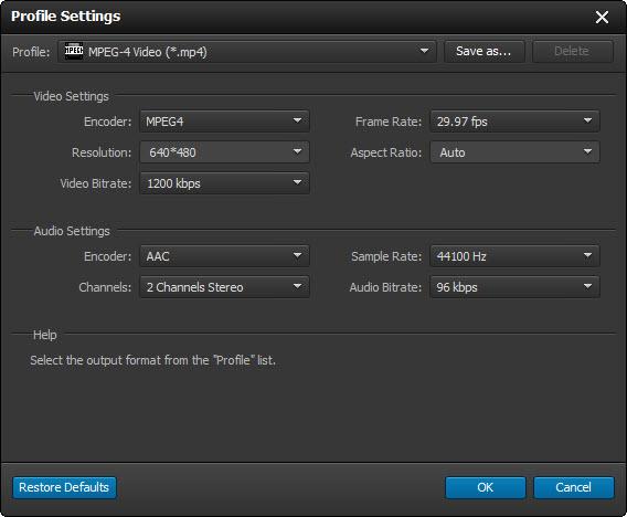 Ajustar las configuraciones de audio y video de su archivo antes de hacer la conversión del video