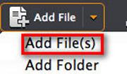 Adicionar los archivos que desee convertir