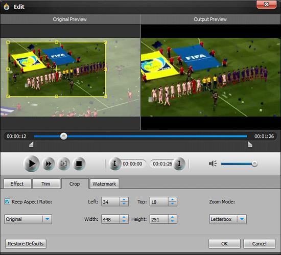 Editar su video antes de grabarlo